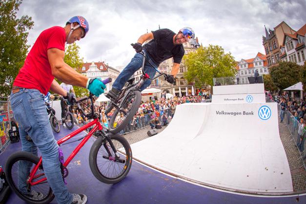 BMX Fotos von der Mellowpark Show zum Braunschweiger Trendsporterlebnis.