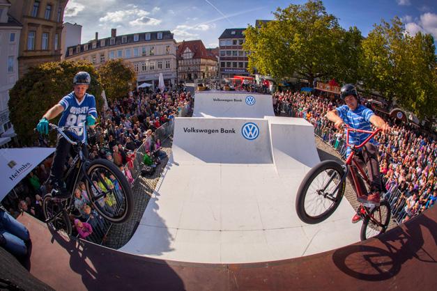 BMX Eventfotos von der Mellowpark Show zum Braunschweiger Trendsporterlebnis.