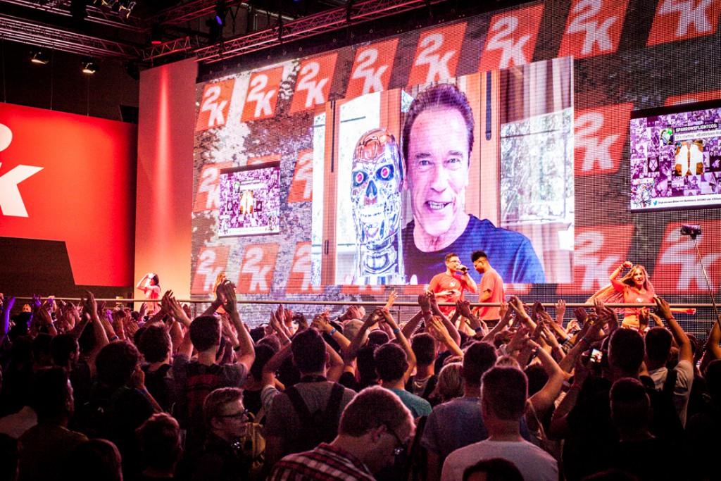 Eventfilm und Fotografie für die Gamescom Köln - Arnold Schwarzenegger