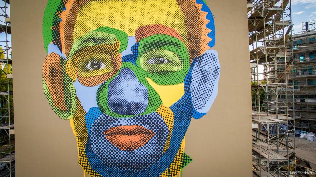 """Imagefilm und Drohnenaufnahmen vom Mural Various & Gould """"Face Time"""""""
